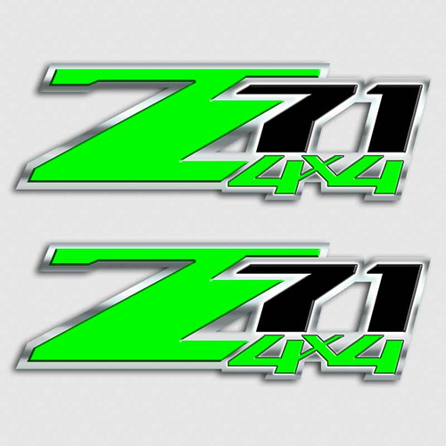 Hulk Green Z71 4x4 Sticker Set