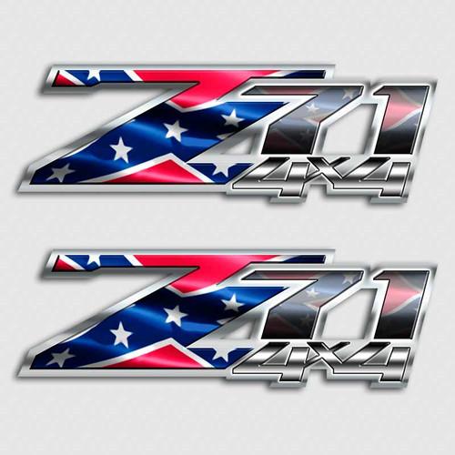 Rebel Flag Z71 4x4 Sticker Set