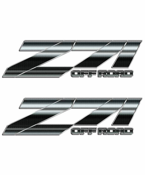 Carbon Fiber Z71 Off Road Sticker Set