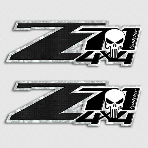 Punisher Skull Z71 4x4 Sticker Set