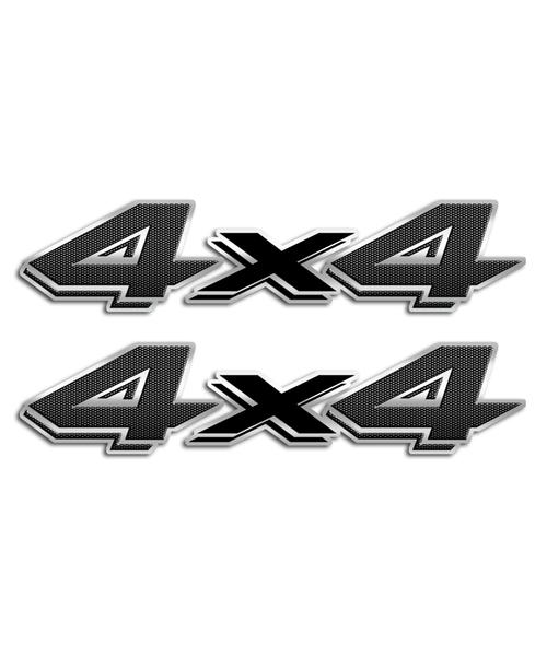 4x4 Carbon Fiber Stickers