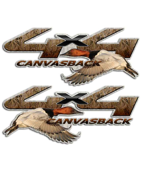 Canvasback 4x4 Duck Stickers