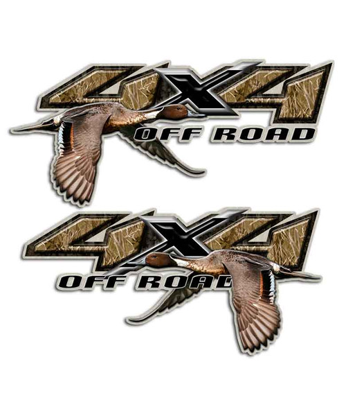 Pintail 4x4 Duck Stickers