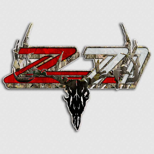 Z71 Camo Skull Sticker Set