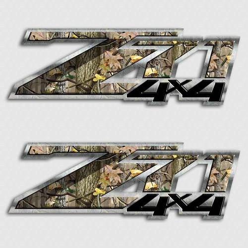Z71 Camo Truck 4x4 Stickers