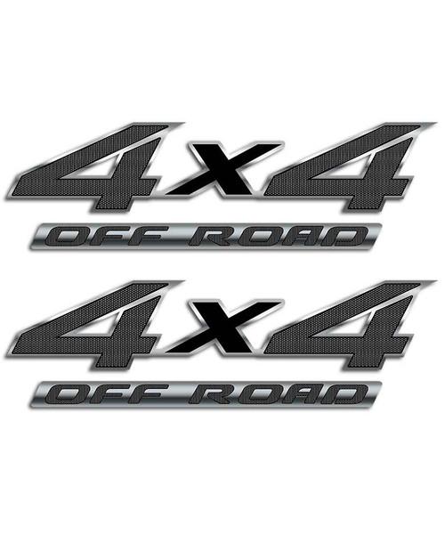 4x4 Black Carbon Fiber Sticker Set