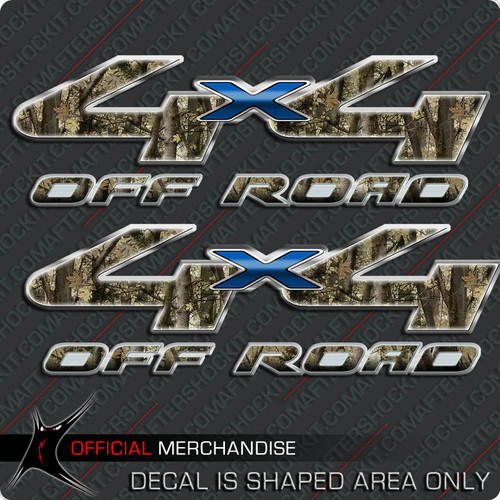 4x4 Shocker Camo Brown Off Road Decals