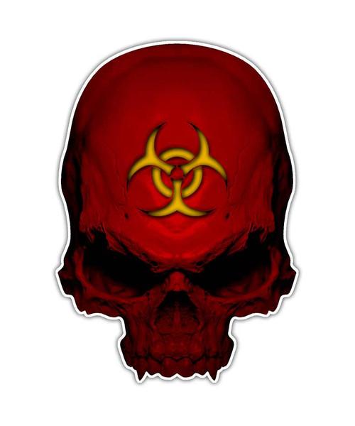 Biohazard Toxic Zombie Skull Sticker