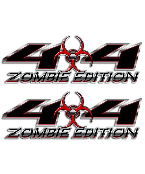 Zombie 4x4 Biohazard Sticker set