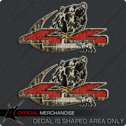 4x4 Grizzly Bear Camo Decals