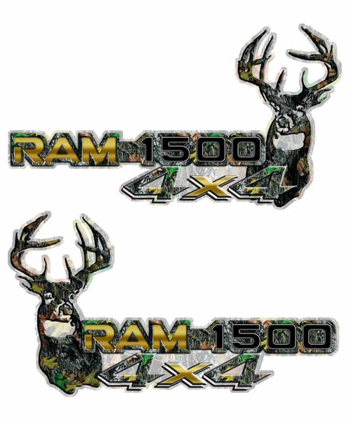 4x4 Gold Ram 1500 Deer Camo Decals
