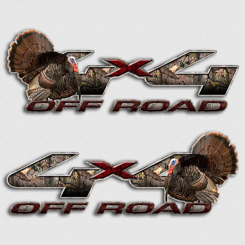 F-250 Turkey 4x4 Hunting Decals