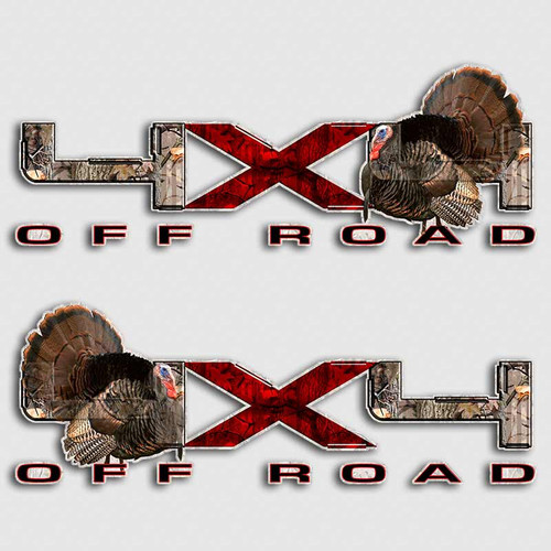 F-150 Turkey 4x4 Big X Hunting Decals
