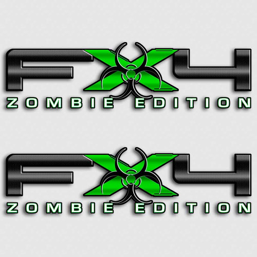 FX4 Zombie F150 Green Decal Set