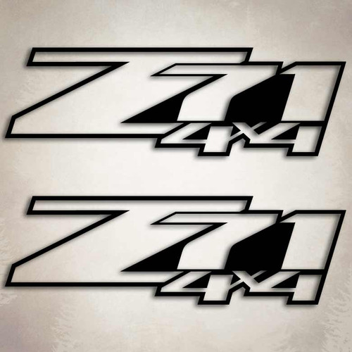 4x4 Z71 Silverado Outline Truck Decal Set