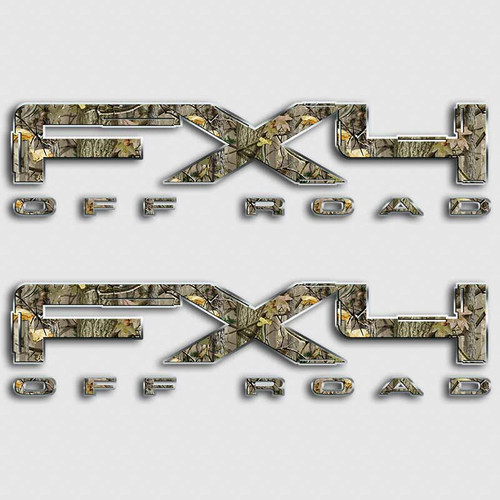 FX4 Twisted Timber Camo Decal Set