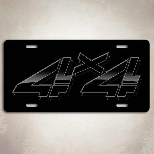 4x4 Black GMC License Plate
