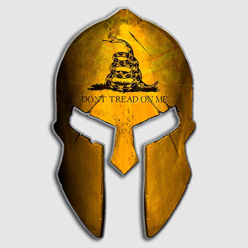 Don't Tread On Me Gadsden Flag Spartan Helmet Decal