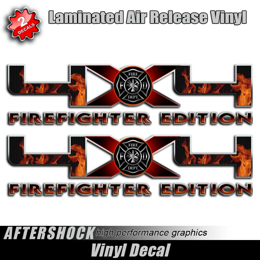 Xffirefighterfordtruckdecal