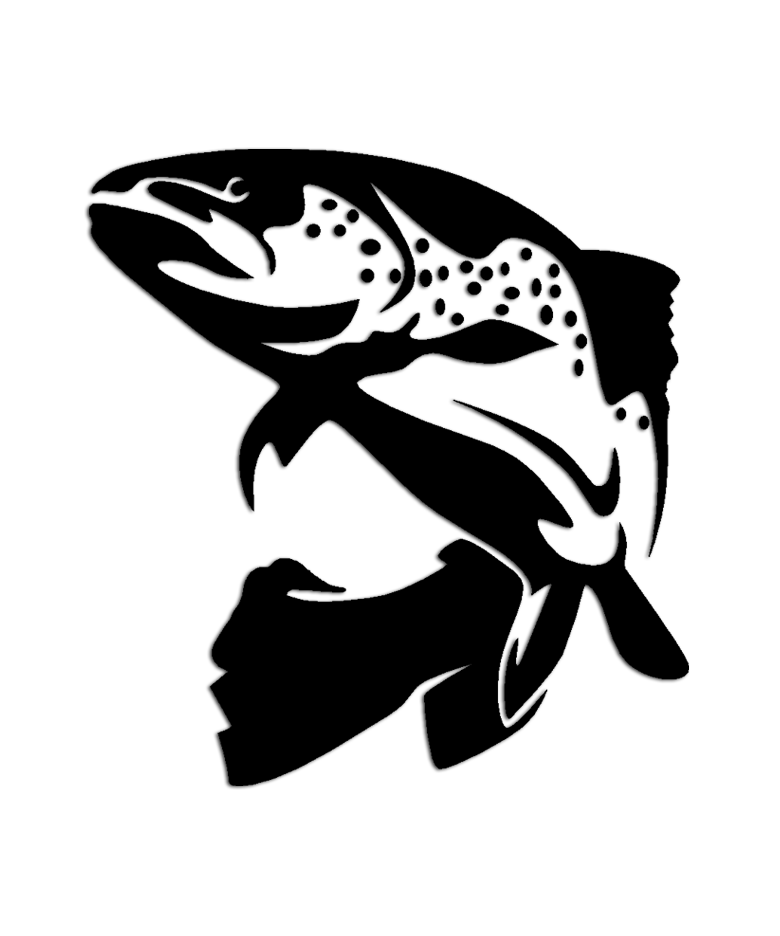 Brown trout fish sticker aftershock decals for Fishing stickers and decals