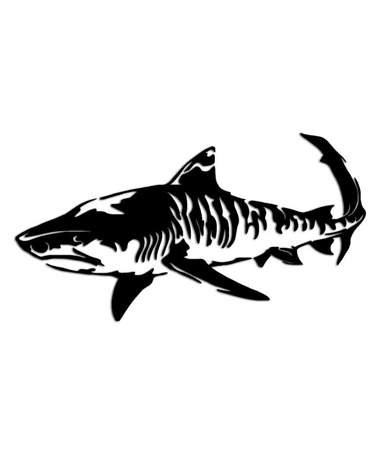 Tiger Shark Logo Tiger Shark Sticker