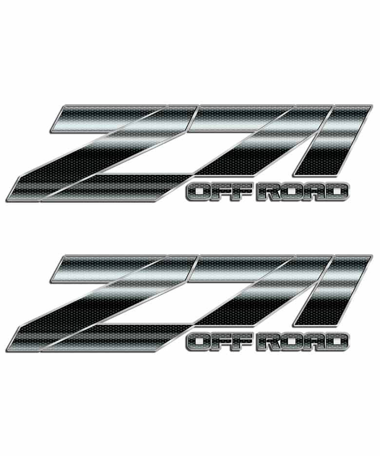 Home stickers 4x4 truck stickers z71 stickers carbon fiber z71 off