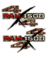 Ram 1500 Camo 4x4 Sticker set