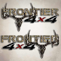 Frontier 4x4 Twisted Timber Camo Skull Decals