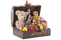 Suitcase Trunk with toys