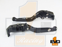 Moto Guzzi Eldorado Brake & Clutch Fold & Extend Levers - Black