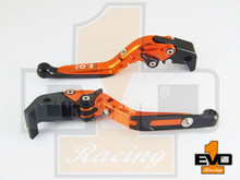 Moto Guzzi V7 Racer Brake & Clutch Fold & Extend Levers - Orange