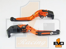 Triumph TIGER 800 / XC 2011-2013 Brake & Clutch Fold & Extend Levers - Orange