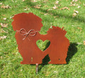 lhasa apso pet memorial garden stake metal yard art garden art