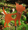 Chihuahua 2 Dog Metal Garden Stake - Metal Yard Art - Metal Garden Art - Pet Memorial