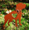 Boxer Dog Metal Garden Stake - Metal Yard Art - Metal Garden Art - Pet Memorial - Design 3