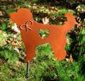 Goldendoodle Labradoodle Dog Metal Garden Stake - Metal Yard Art - Metal Garden Art - Pet Memorial
