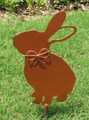 Rabbit Bunny Metal Garden Stake - Metal Yard Art - Metal Garden Art - Rustic - Rusty - Pet Memorial