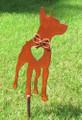 Miniature Pinscher Dog Metal Garden Stake - Metal Yard Art - Metal Garden Art - Pet Memorial