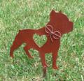 Pit Bull Dog Metal Garden Stake - Metal Yard Art - Metal Garden Art - Pet Memorial 2