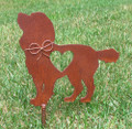 Cocker Spaniel Dog Metal Garden Stake - Metal Yard Art - Metal Garden Art - Pet Memorial 2