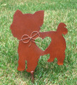 Yorkshire Terrier Dog Metal Garden Stake - Metal Yard Art - Metal Garden Art - Pet Memorial 2