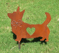 Cardigan Welsh Corgi Dog Metal Garden Stake - Metal Yard Art - Metal Garden Art - Pet Memorial