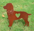Springer Spaniel Metal Garden Stake - Yard Garden Art - Pet Memorial