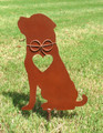 Rottweiler 2 Dog Metal Garden Stake - Metal Yard Art - Metal Garden Art - Pet Memorial