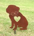 English Bulldog Dog Metal Garden Stake - Metal Yard Art - Metal Garden Art - Pet Memorial 2