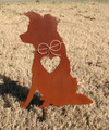Border Collie Dog Metal Garden Stake - Metal Yard Art - Metal Garden Art - Pet Memorial 2