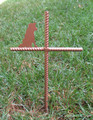 Border Collie Pet Memorial Cross Garden Stake - Metal Yard Art - Metal Garden Art - Metal Cross - Design 2