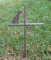 Bull Terrier Pet Memorial Cross Garden Stake - Metal Yard Art - Metal Garden Art - Metal Cross - Design 1