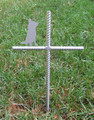 Australian Cattle Dog Pet Memorial Cross Garden Stake - Metal Yard Art - Metal Garden Art - Metal Cross - Design 1