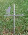 Labrador Retriever Pet Memorial Cross Garden Stake - Metal Yard Art - Metal Garden Art - Metal Cross - Design 2